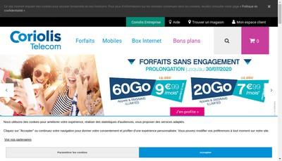 Site internet de Coriolis Telecom