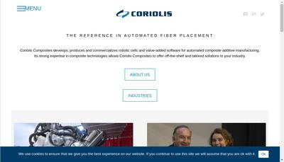 Site internet de Coriolis Composites Coriolis Composites Technologies