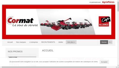 Site internet de Cormat