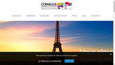 Site internet de Cornelius Communication