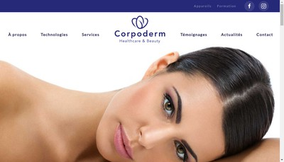 Site internet de Corpoderm