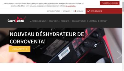 Site internet de Corroventa Deshumidification