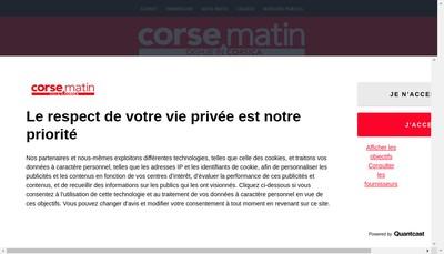 Site internet de Corse Matin