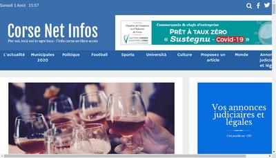 Site internet de Corse Net Infos
