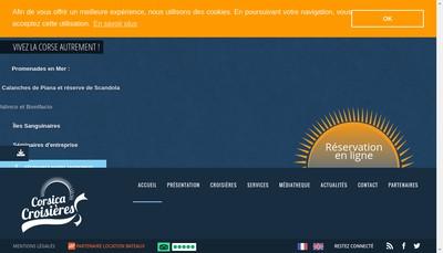 Site internet de Corscia Croisieres