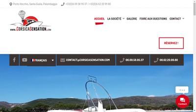 Site internet de Corsicasensation