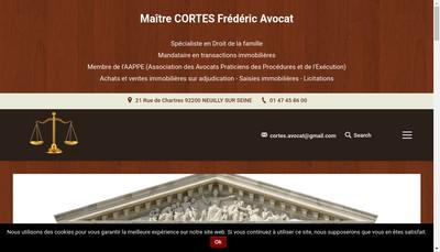 Site internet de Frederic Cortes