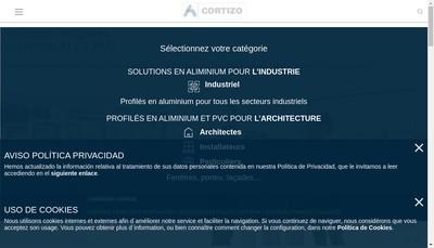 Site internet de Cortizo France