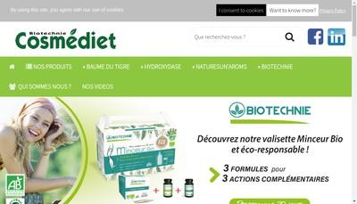 Site internet de Cosmediet Biotechnie