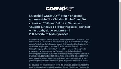 Site internet de Cosmodiff
