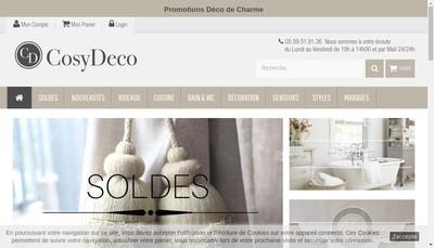 Site internet de Cosy Deco