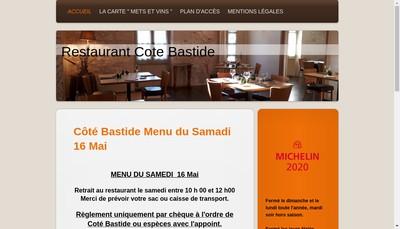 Site internet de Cote Bastide