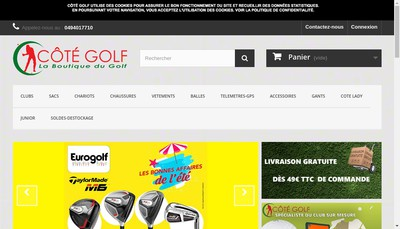 Site internet de Cote Golf