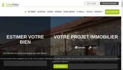 Site internet de Cote Patio Immobilier