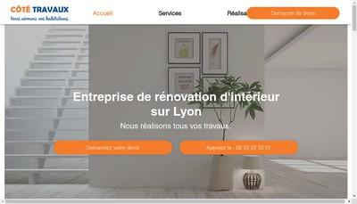Site internet de Cote Travaux