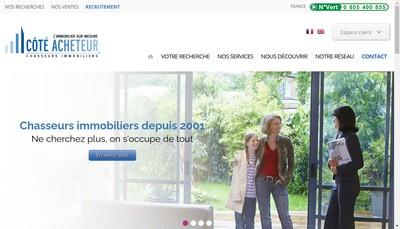Site internet de Cote Acheteur l'Immobilier sur Mesure