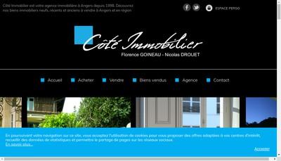 Site internet de Cote Immobilier