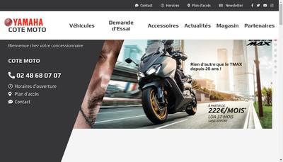 Site internet de Cote Moto