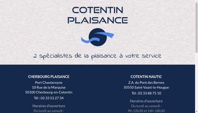 Site internet de Cherbourg Plaisance