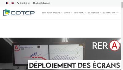 Site internet de Acsia - Cotep - Celia
