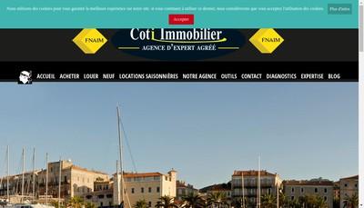 Site internet de Coti Immobilier