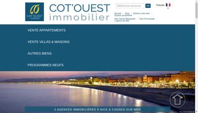 Site internet de Cot'Ouest Immobilier