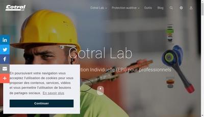 Site internet de Laboratoire Cotral