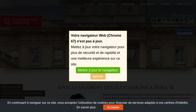 Site internet de Aurore Couderc