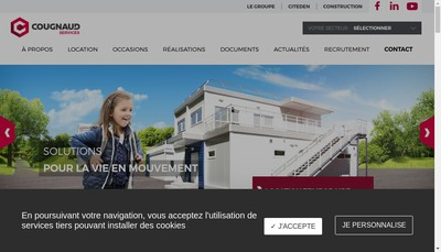 Site internet de Cougnaud Services