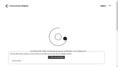 Site internet de Couleur Citron