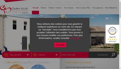 Site internet de Couleur Villas
