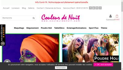 Site internet de Couleur de Nuit