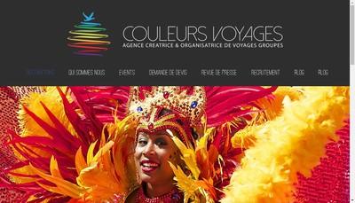 Site internet de SARL Couleurs Voyages