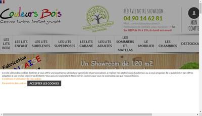 Site internet de Couleurs Bois