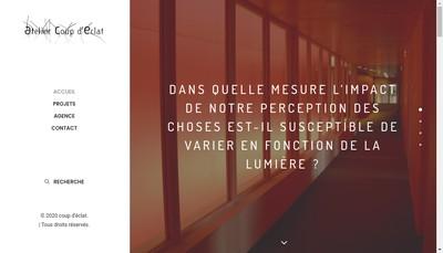 Site internet de Coup d'Eclat
