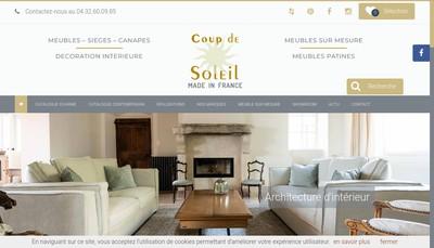 Site internet de Coup de Soleil