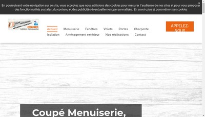 Site internet de Coupe Menuiserie