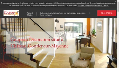 Site internet de Coupeau Decoration