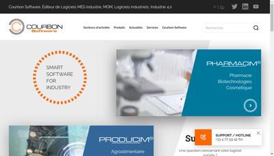 Site internet de Courbon SAS