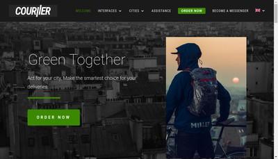 Site internet de Couriier