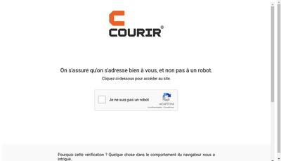 Site internet de Courir