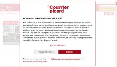 Site internet de Le Courrier Picard