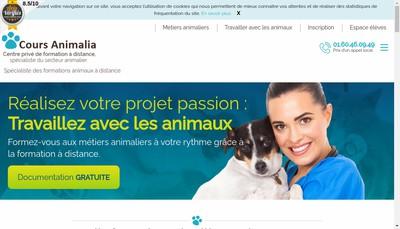 Site internet de Cours Animalia