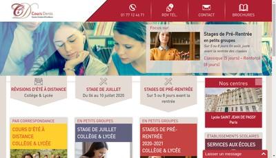 Site internet de Cours Denis