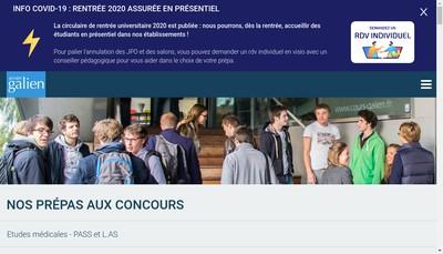 Site internet de Cours Galien