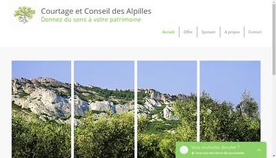 Site internet de Courtage et Conseil des Alpilles