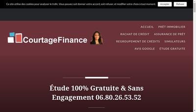 Site internet de Courtage Finance