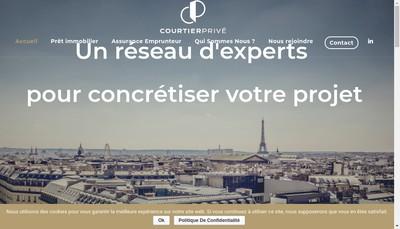 Site internet de Courtier Prive