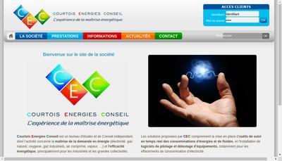 Site internet de Courtois Energies Conseil
