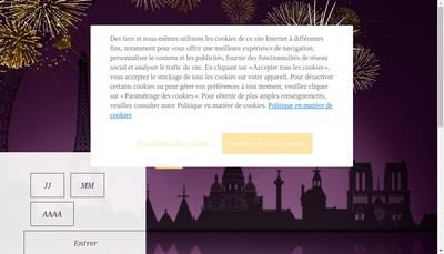 Site internet de Courvoisier le Cognac de Napoleon